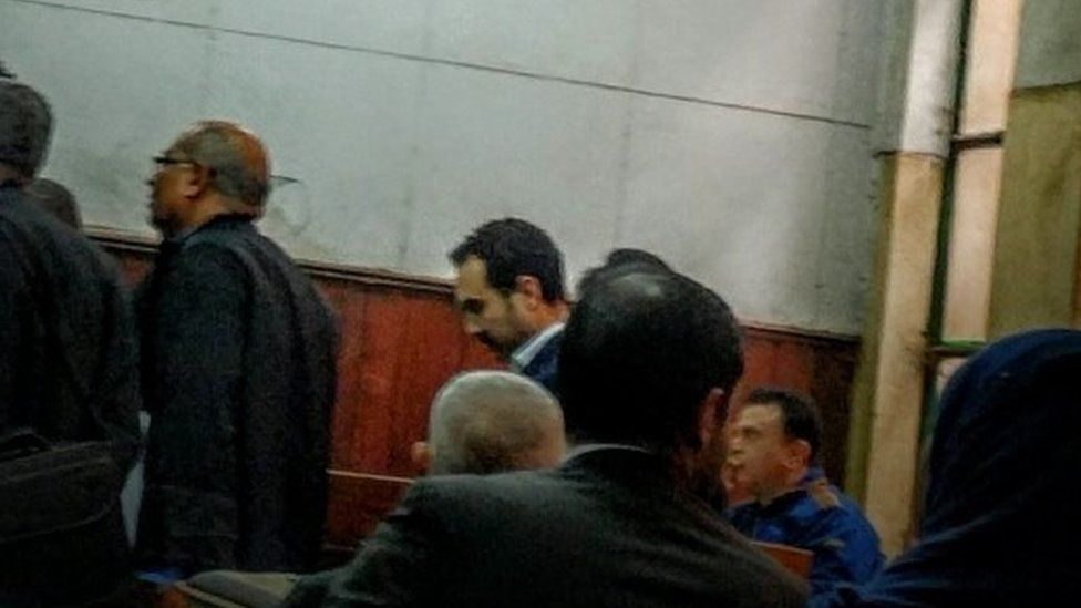 Egyptian author Ahmed Naji appears in court in Cairo