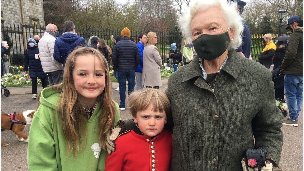 Anne Yearsley with her grandchildren