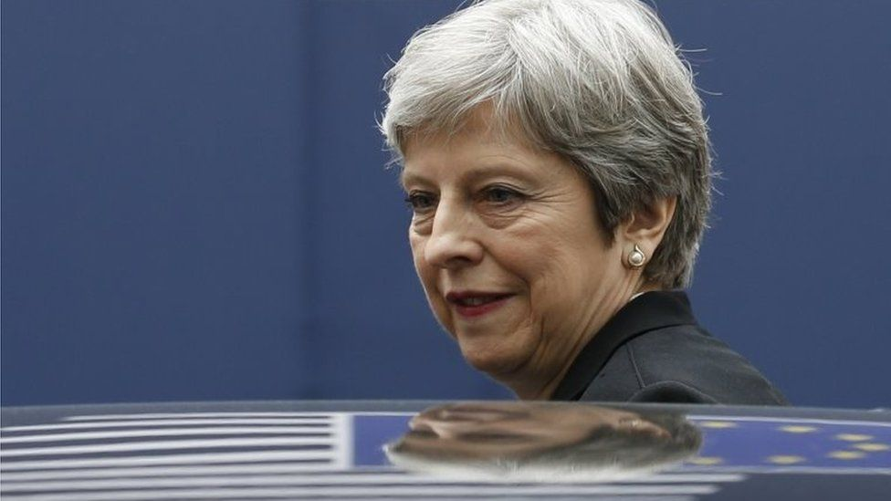 Theresa May at EU summit