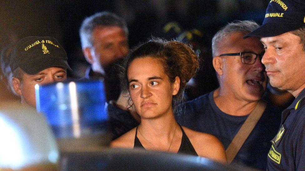 Carola Rackete arrest in Italy