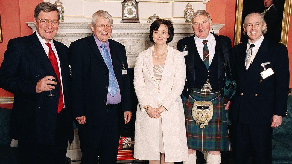 From left: Stephen Westaby, Peter Houghton, Cherie Blair, Jim Braid & Robert Jarvik
