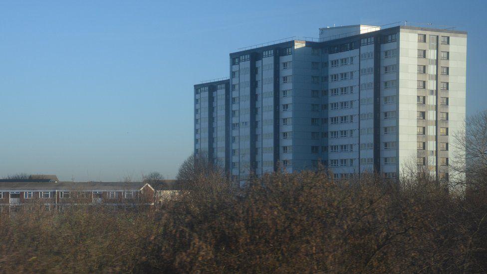 A block of flats at Axis Park, Slough