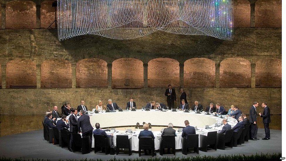 EU leaders round table at Salzburg summit