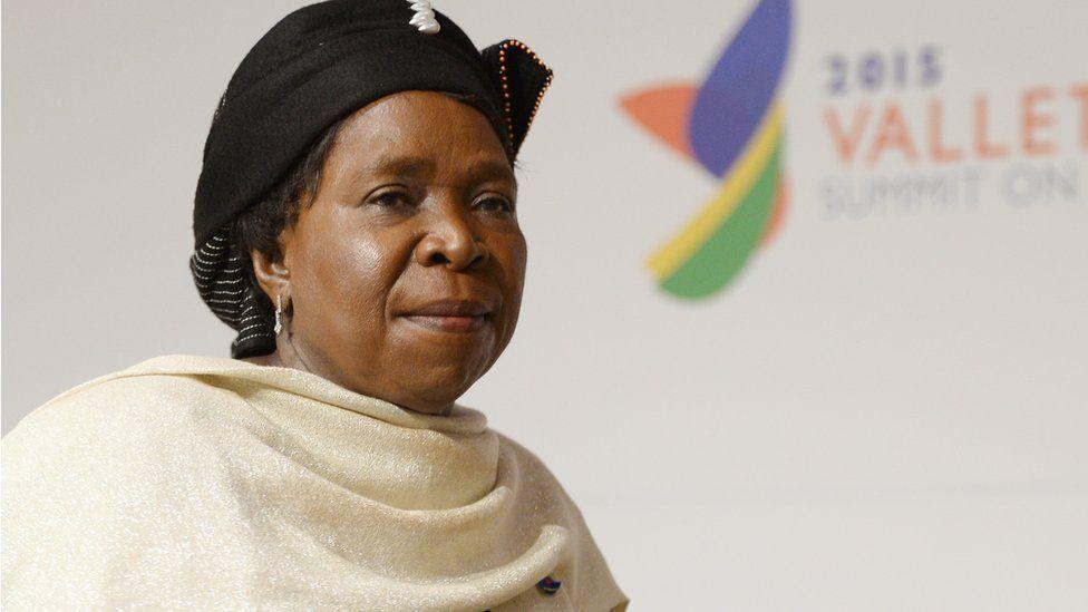 Portrait of AU head Nkosazana Dlamini-Zuma