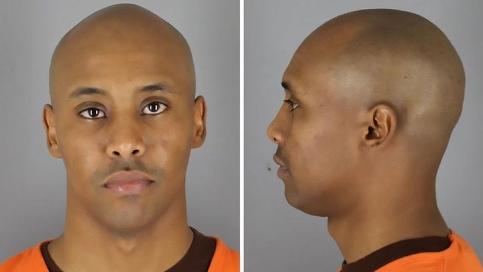 Mohamed Noor pictured in two police mugshots
