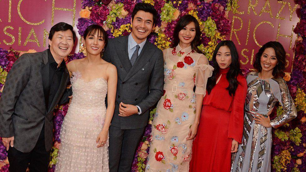 The cast of Crazy Rich Asians