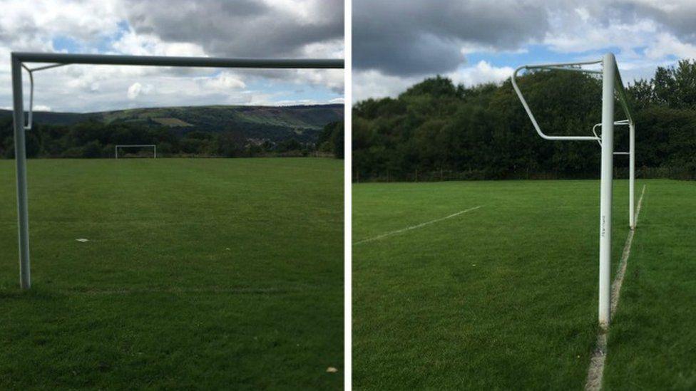 The goal posts in Abernant