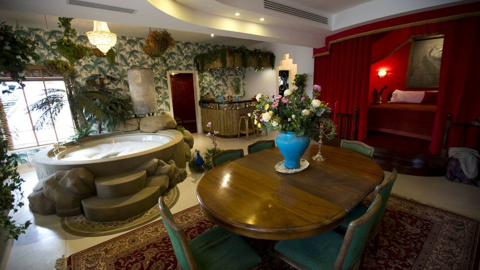 "The presidential suite of the The Walled Off Hotel"" in the West Bank city of Bethlehem, Friday, March 3, 2017."