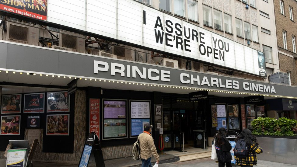 """A cinema in London told passers-by in May """"I assure you we're open"""""""
