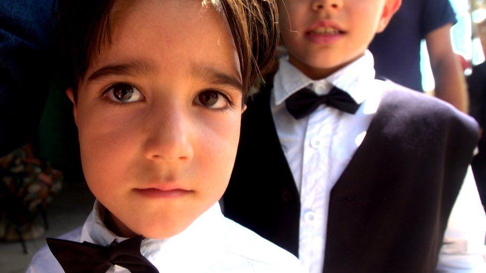 Boys in bow ties leaving Muadhamiya (08/09/16)