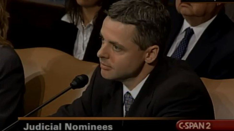 Raymond Kethledge listens during his Senate confirmation hearings.