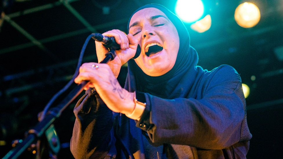 Sinead O'Connor on stage in January 2020