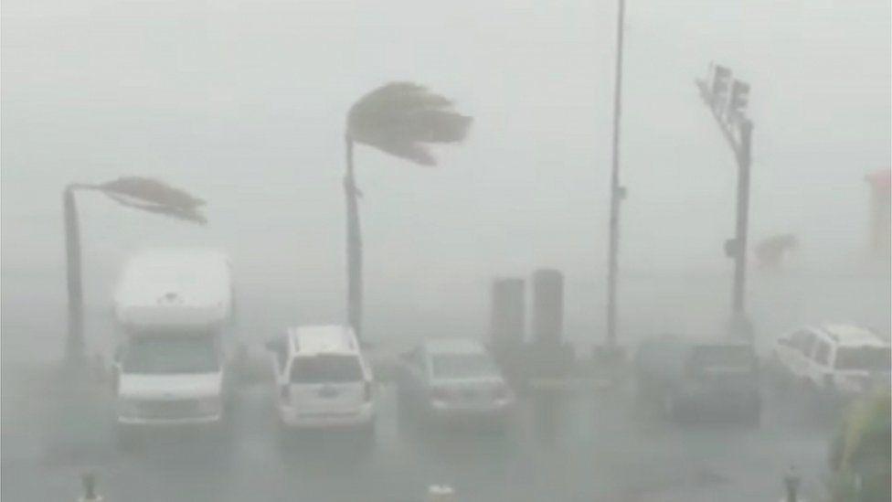 Hurricane Dorian hits St Thomas
