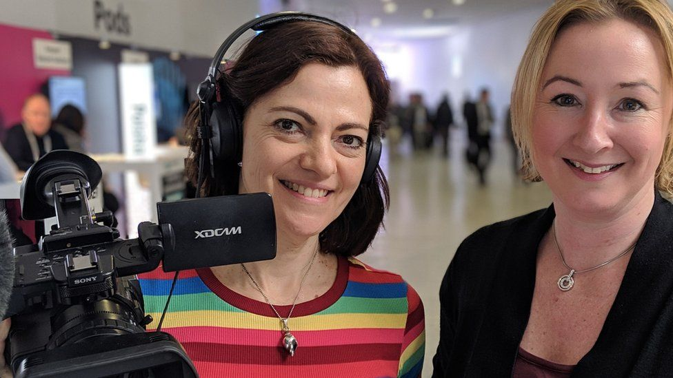 BBC colleagues Zoe Kleinman and Tracey Langford