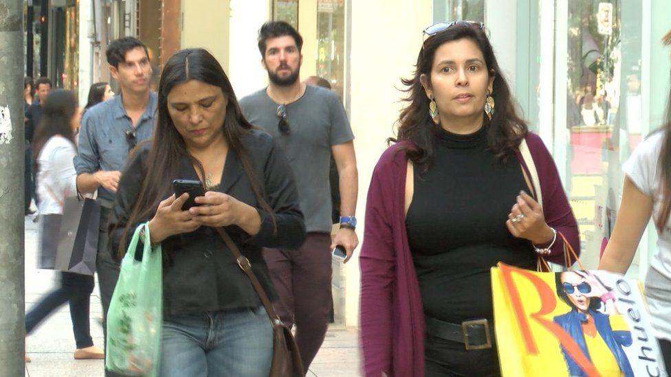 Shoppers in Brazil