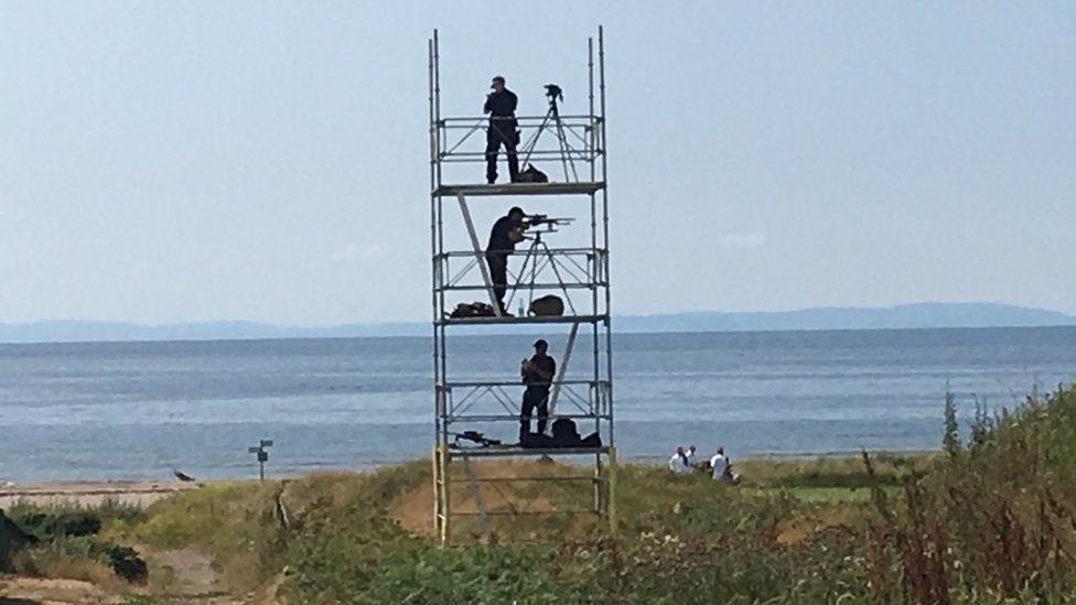 Armed police at Turnberry