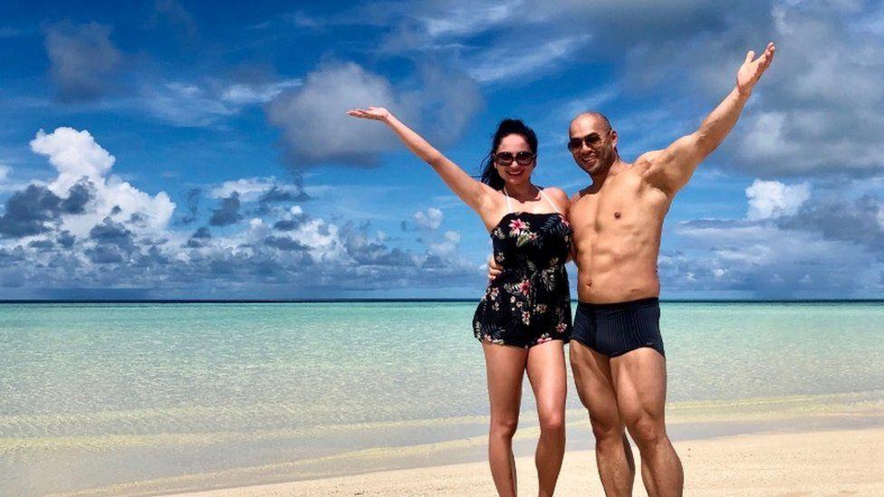Simon and Kirsty on holiday