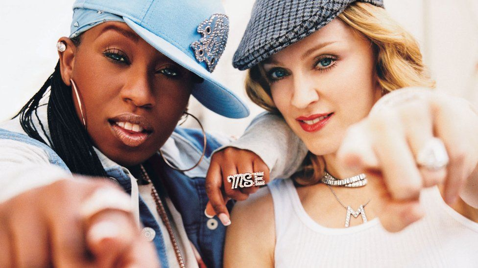 Missy Elliott and Madonna in a Gap advert together in 2003