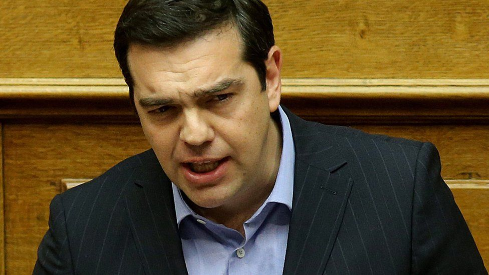 Close up of Alexis Tsipras