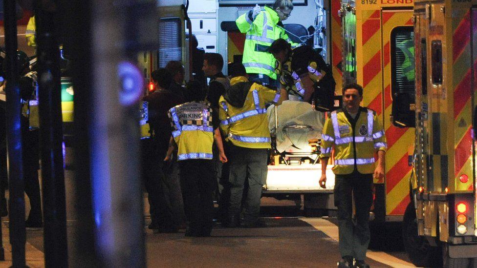 Ambulances on London Bridge