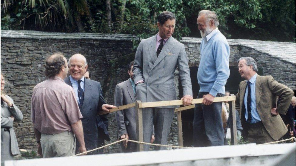 Prince Charles at the Lost Gardens of Heligan