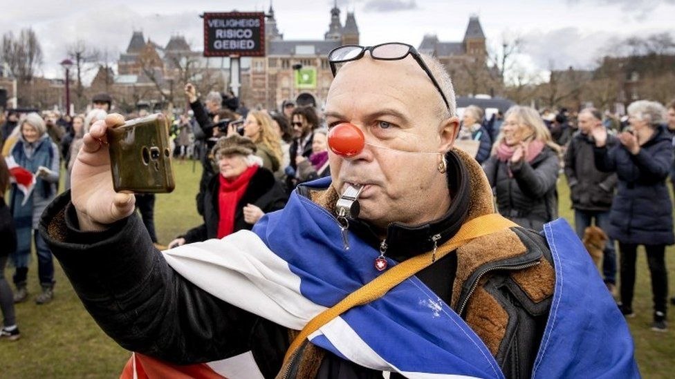 Protester in Amsterdam
