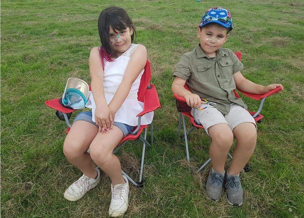 Clara age nine and Solomon age six