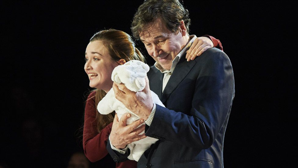 Amy Malloy and Stephen Rea in Cyprus Avenue