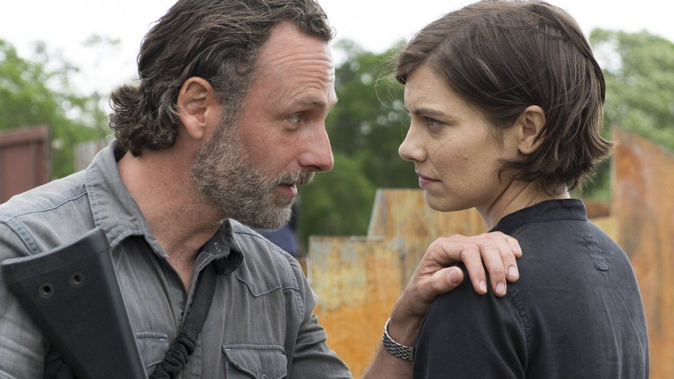 Rick Grimes and Maggie Rhee