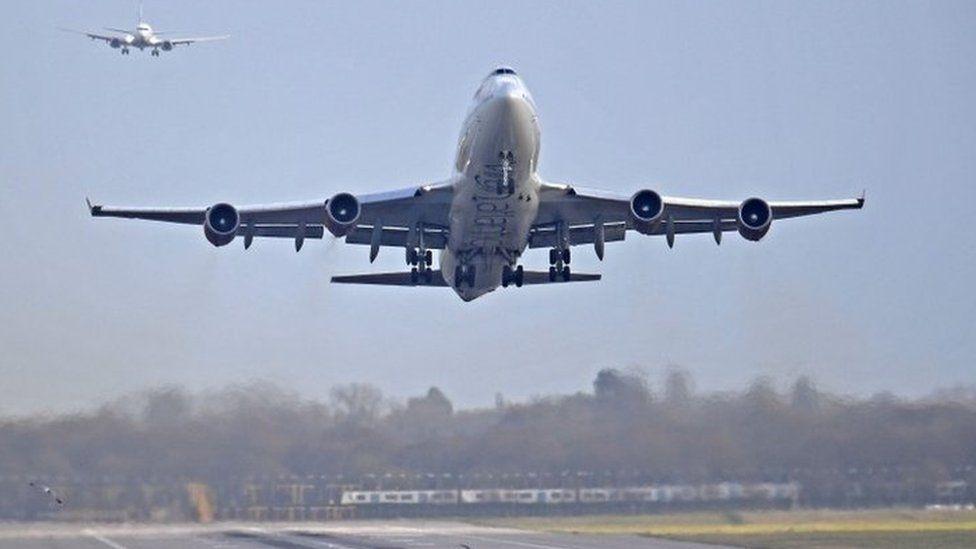 Flights landing at Gatwick
