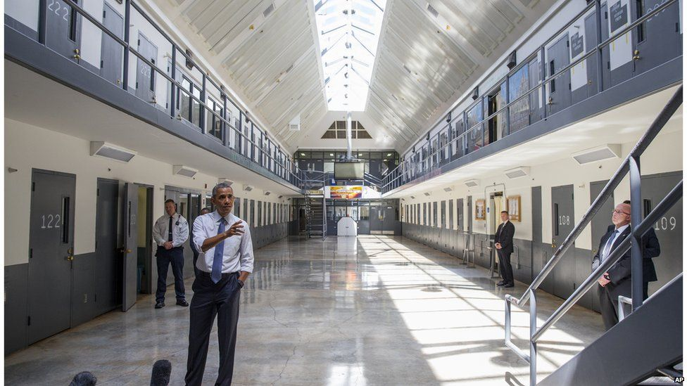 Mr Obama at the El Reno Federal Correctional Institution