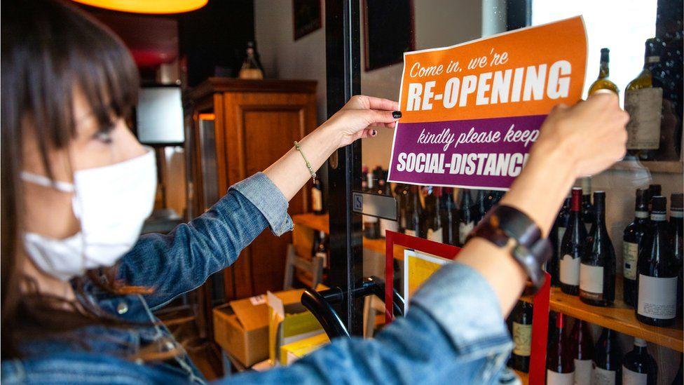 Shop reopening after coronavirus shutdown