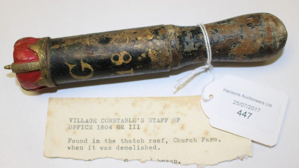 The truncheon which was found in the 1960s