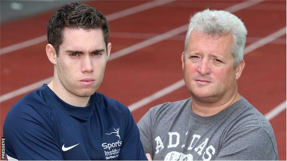 Stephen Maguire (right) used to coach Paralympics star Jason Smyth