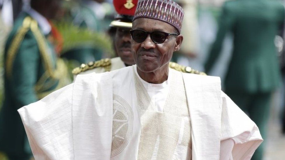 Nigerian President, Muhammadu Buhari, arrives for his Inauguration at the eagle square in Abuja, Nigeria