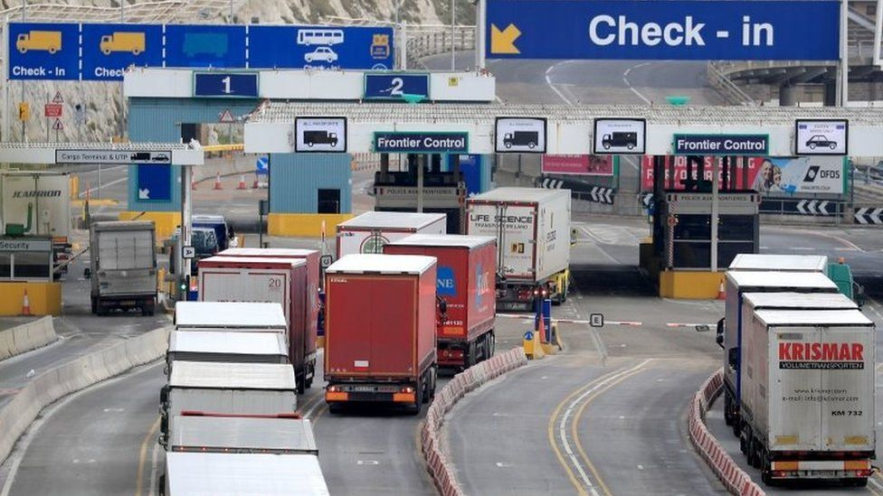 Lorries at the Port of Dover