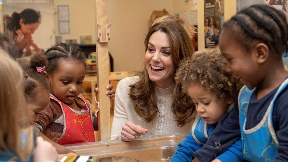 The Duchess of Cambridge at Stockwell Gardens Nursery and Pre-School