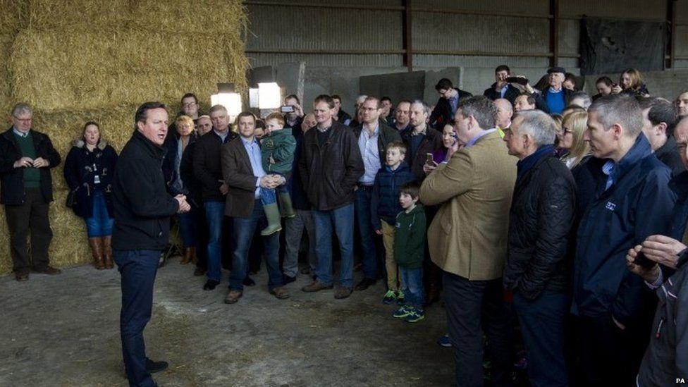 David Cameron speaking in Northern Ireland on Saturday