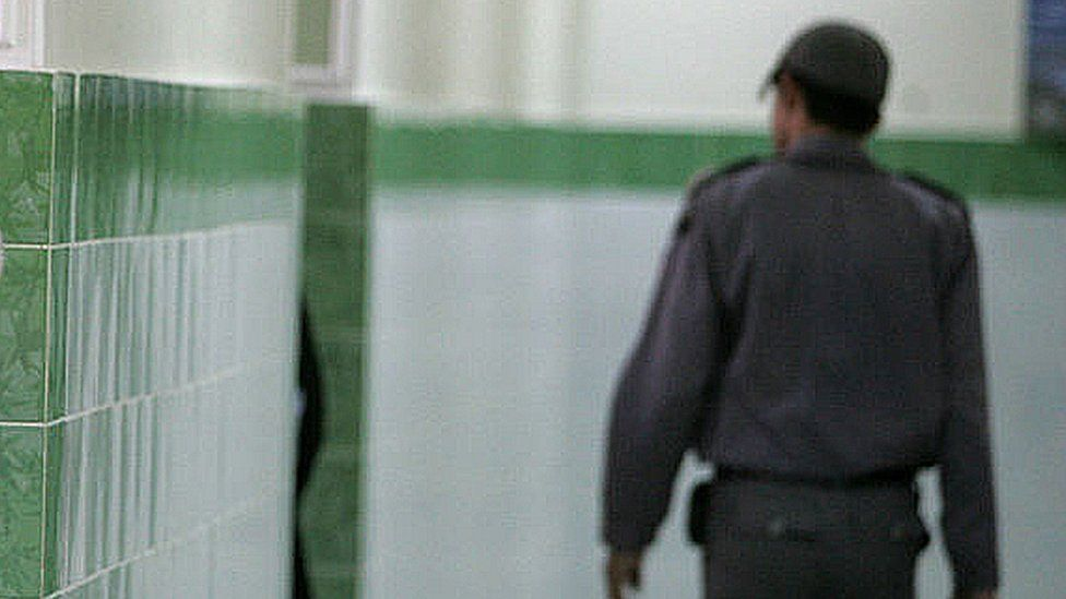 File image of guard inside an Iranian prison