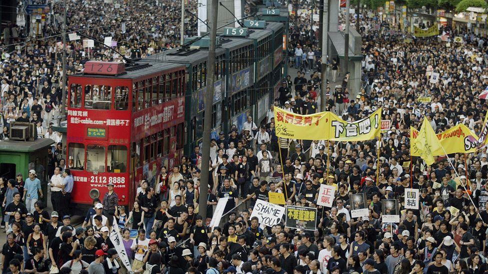 2003年香港「七一」遊行
