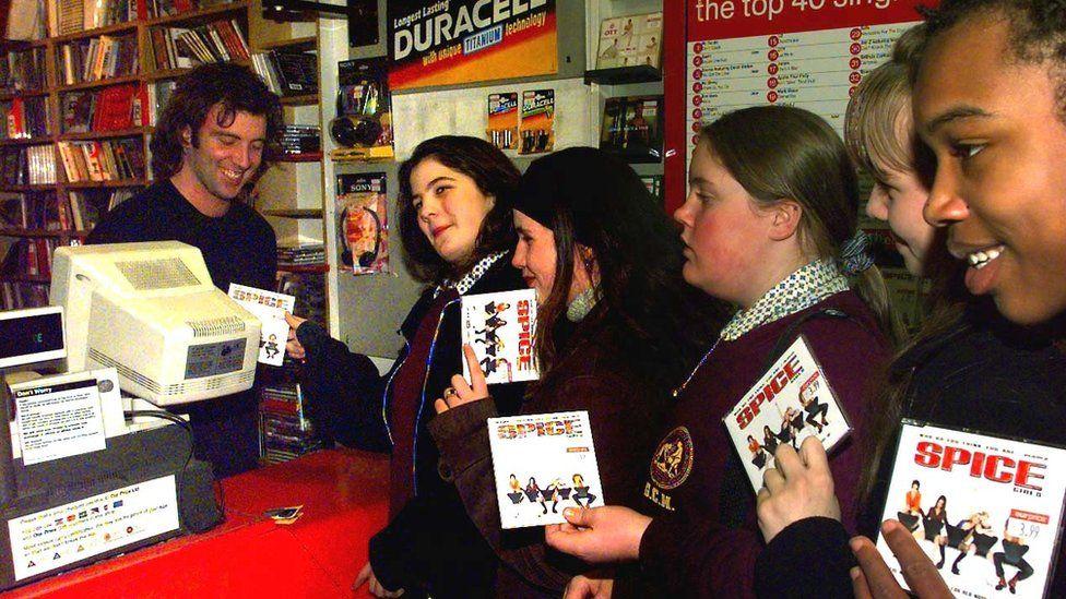 Fans purchasing Spice Girls singles in 1997