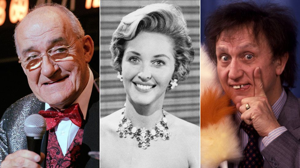 Jim Bowen. Katie Boyle and Ken Dodd