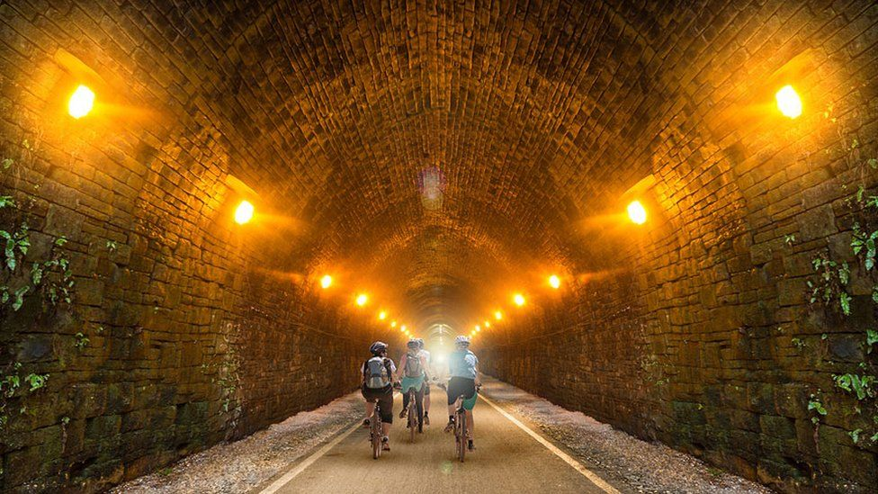 Artist's impression of cycle path