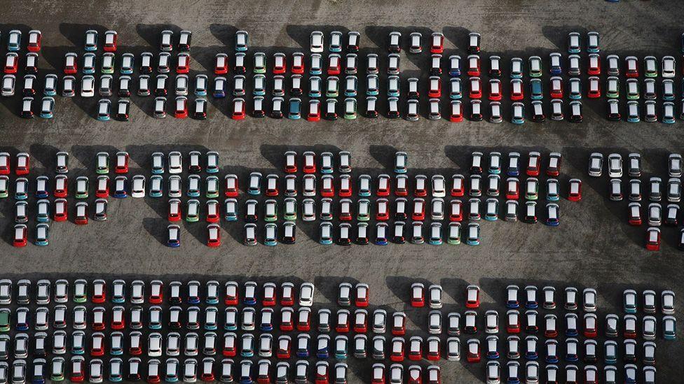 Cars at Avonmouth