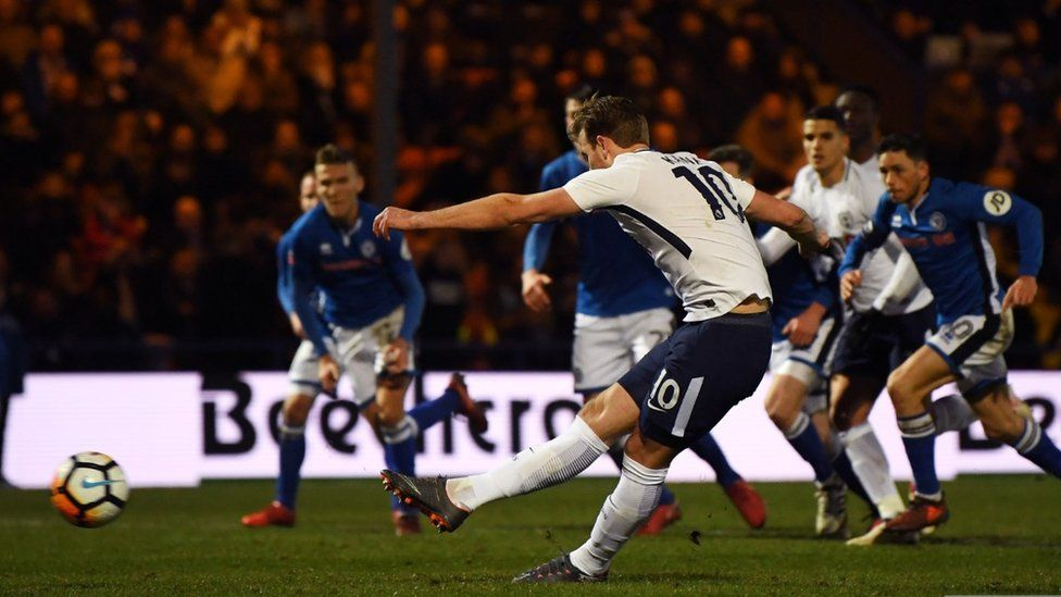 Harry Kane scores v Rochdale in the FA Cup