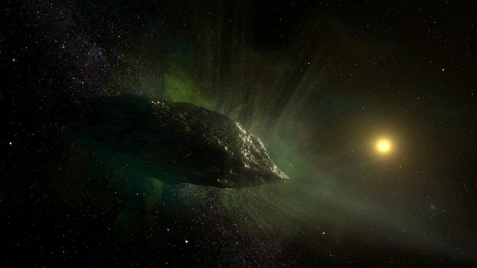'Alien comet' visitor has weird composition