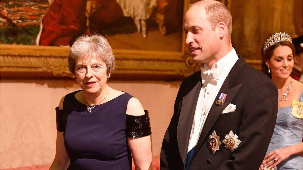 Theresa May with Duke of Cambridge