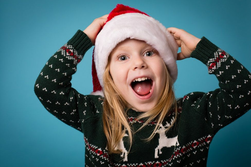 Child in Christmas jumper