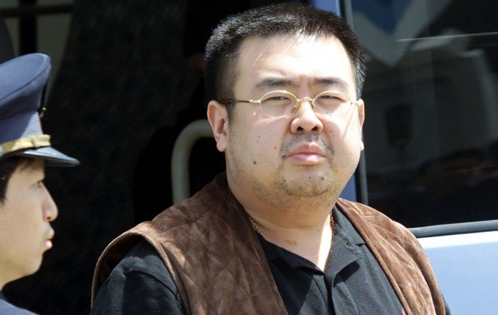 Kim Jong-nam pictured getting off a bus at Narita airport near Tokyo