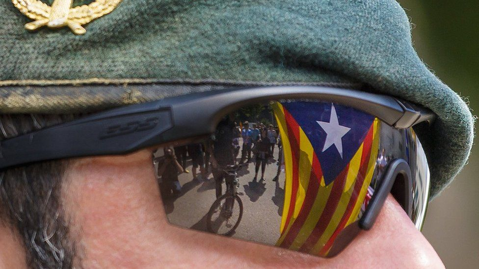 Demonstration in Catalonia ahead of independence vote